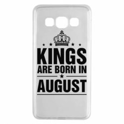 Чехол для Samsung A3 2015 Kings are born in August - FatLine