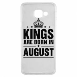 Чехол для Samsung A3 2016 Kings are born in August - FatLine