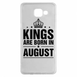 Чехол для Samsung A5 2016 Kings are born in August - FatLine