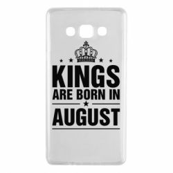 Чехол для Samsung A7 2015 Kings are born in August - FatLine