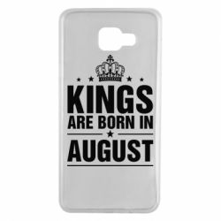 Чехол для Samsung A7 2016 Kings are born in August - FatLine