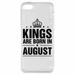 Чехол для iPhone5/5S/SE Kings are born in August - FatLine