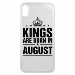 Чехол для iPhone Xs Max Kings are born in August - FatLine