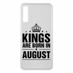 Чехол для Samsung A7 2018 Kings are born in August - FatLine