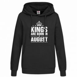 Женская толстовка Kings are born in August - FatLine