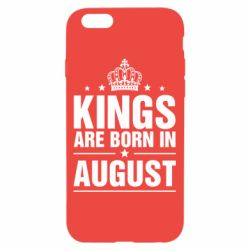 Чехол для iPhone 6/6S Kings are born in August - FatLine