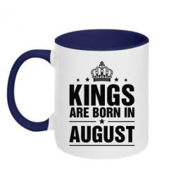 Кружка двухцветная Kings are born in August - FatLine