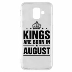 Чехол для Samsung A6 2018 Kings are born in August - FatLine