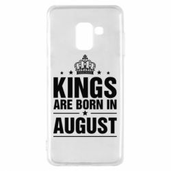 Чехол для Samsung A8 2018 Kings are born in August - FatLine