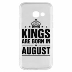 Чехол для Samsung A3 2017 Kings are born in August - FatLine