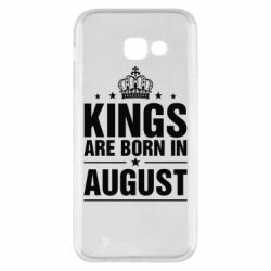 Чехол для Samsung A5 2017 Kings are born in August - FatLine