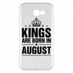 Чехол для Samsung A7 2017 Kings are born in August - FatLine