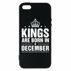 Чехол для iPhone5/5S/SE Kings are born in December - FatLine