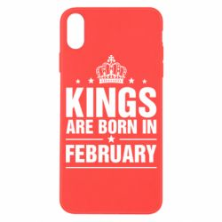 Чехол для iPhone X Kings are born in February - FatLine
