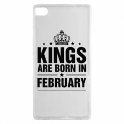 Чехол для Huawei P8 Kings are born in February - FatLine