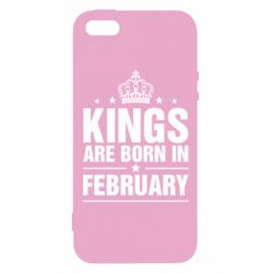 Чехол для iPhone5/5S/SE Kings are born in February - FatLine