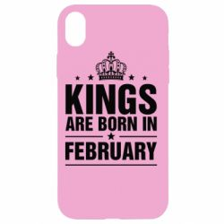 Чехол для iPhone XR Kings are born in February - FatLine