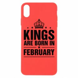 Чехол для iPhone Xs Max Kings are born in February - FatLine