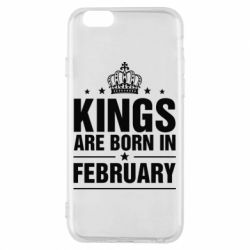 Чехол для iPhone 6/6S Kings are born in February - FatLine