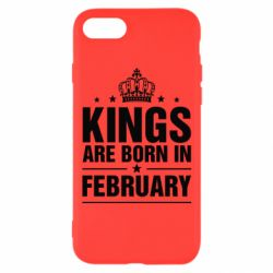 Чехол для iPhone 7 Kings are born in February - FatLine