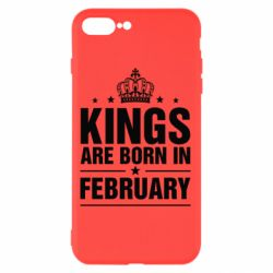 Чехол для iPhone 8 Plus Kings are born in February - FatLine
