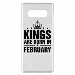 Чехол для Samsung Note 8 Kings are born in February - FatLine