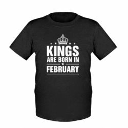 Детская футболка Kings are born in February - FatLine