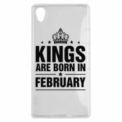 Чехол для Sony Xperia Z1 Kings are born in February - FatLine