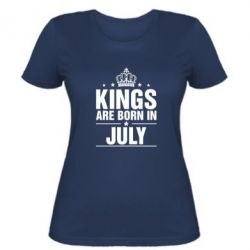 Жіноча футболка Kings are born in July