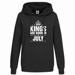 Женская толстовка Kings are born in July
