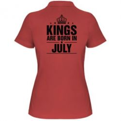 Женская футболка поло Kings are born in July