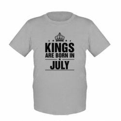 Детская футболка Kings are born in July