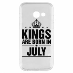 Купить Чехол для Samsung A3 2017 Kings are born in July, FatLine
