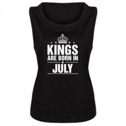 Женская майка Kings are born in July