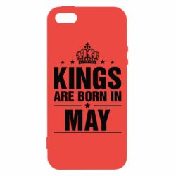 Чехол для iPhone5/5S/SE Kings are born in May - FatLine