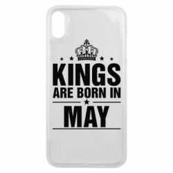Чехол для iPhone Xs Max Kings are born in May - FatLine