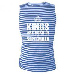 Купить Майка-тельняшка Kings are born in September, FatLine