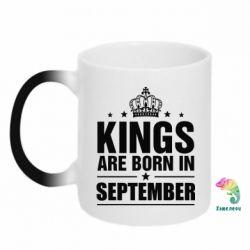 Купить Кружка-хамелеон Kings are born in September, FatLine