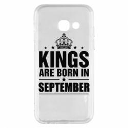 Купить Чехол для Samsung A3 2017 Kings are born in September, FatLine