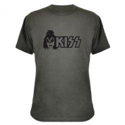 Камуфляжная футболка Kiss Album - FatLine