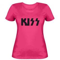 Женская футболка Kiss Logo