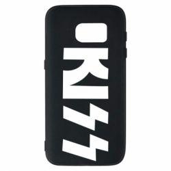 Чехол для Samsung S7 Kiss Logo