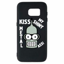 Чехол для Samsung S7 Kiss metal