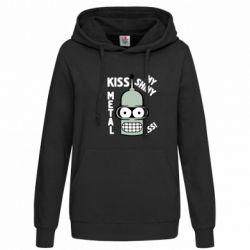 Женская толстовка Kiss metal