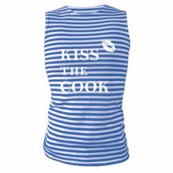 Майка-тельняшка Kiss the cook