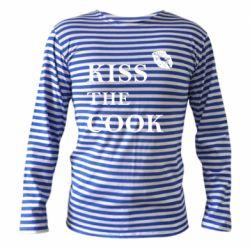 Тельняшка с длинным рукавом Kiss the cook
