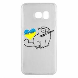 Чехол для Samsung S6 EDGE Кіт-патріот