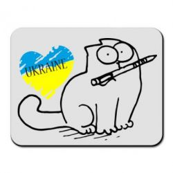 Коврик для мыши Кіт-патріот - FatLine
