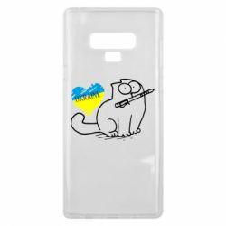Чехол для Samsung Note 9 Кіт-патріот