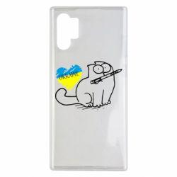 Чехол для Samsung Note 10 Plus Кіт-патріот